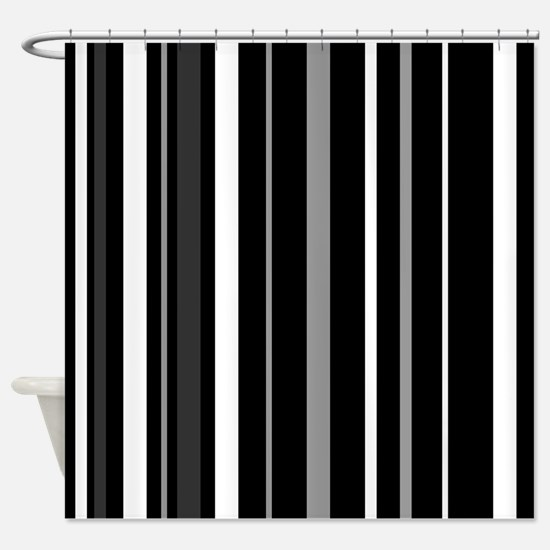 black and white striped shower curtain. Black  Grey and white stripes Shower Curtain And White Stripes Curtains CafePress