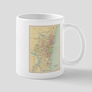 Vintage Map of Madras India (1909) Mugs