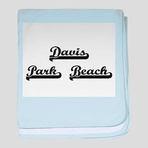 Davis Park Beach Classic Retro Design baby blanket