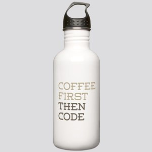 Coffee Then Code Stainless Water Bottle 1.0L