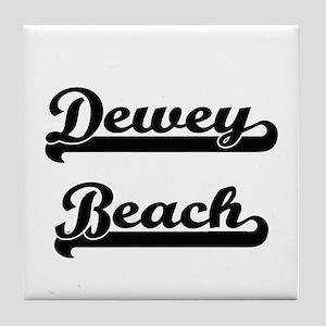 Dewey Beach Classic Retro Design Tile Coaster