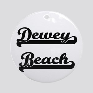 Dewey Beach Classic Retro Design Ornament (Round)