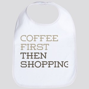 Coffee Then Shopping Bib