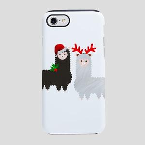 christmas reindeer alpacas iPhone 8/7 Tough Case
