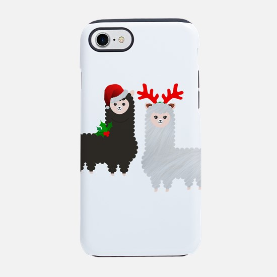 christmas reindeer alpacas iPhone 8/7 Tough Case