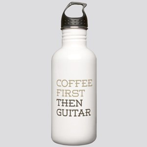 Coffee Then Guitar Stainless Water Bottle 1.0L