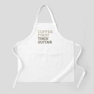 Coffee Then Guitar Apron