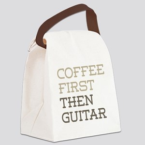 Coffee Then Guitar Canvas Lunch Bag