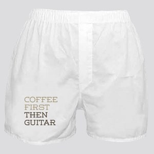 Coffee Then Guitar Boxer Shorts