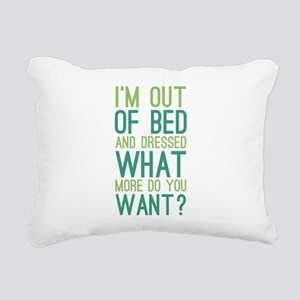 What More Do You Want? Rectangular Canvas Pillow