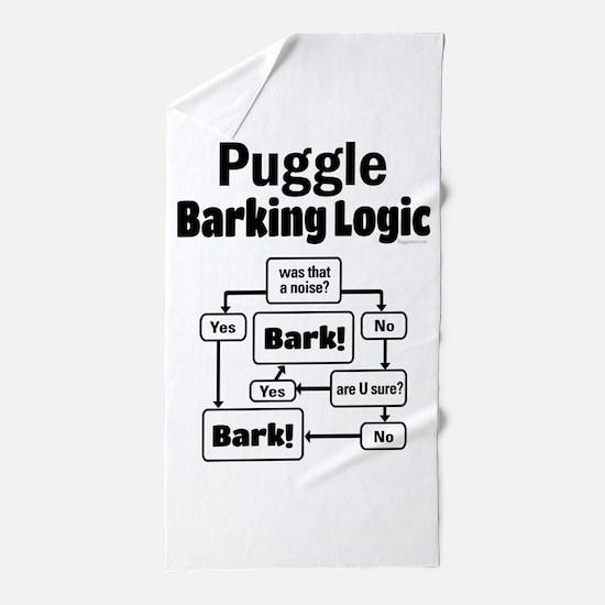 Puggle Logic Beach Towel