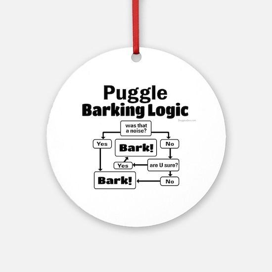 Puggle Logic Ornament (Round)