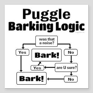 """Puggle Logic Square Car Magnet 3"""" x 3"""""""