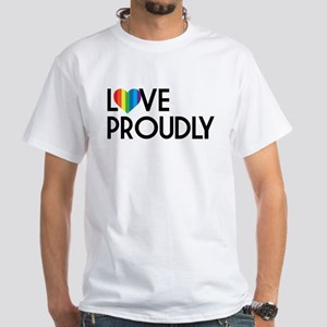 Queer as Folk: Love Proudly White T-Shirt
