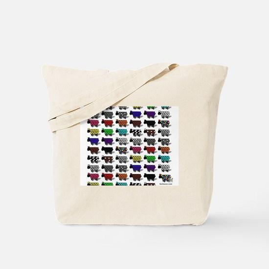 Logo Flock Tote Bag