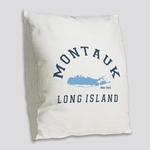Montauk - Long Island. Burlap Throw Pillow