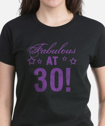Fabulous 30th Birthday Women's Dark T-Shirt