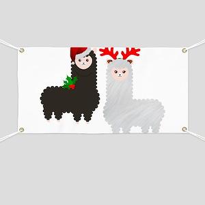 christmas reindeer alpacas Banner