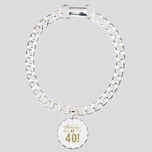 Fabulous 40th Birthday Charm Bracelet, One Charm