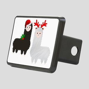 christmas reindeer alpacas Rectangular Hitch Cover