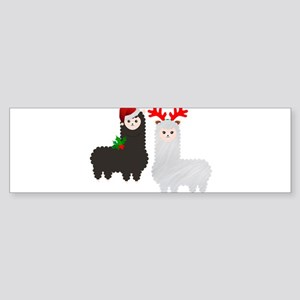 christmas reindeer alpacas Bumper Sticker