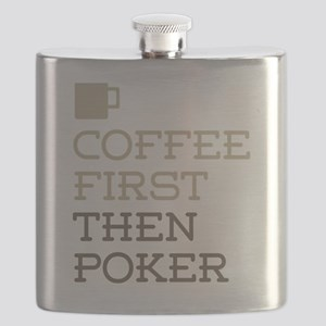 Coffee Then Poker Flask