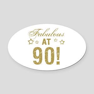 Fabulous 90th Birthday Oval Car Magnet