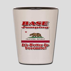 BASE Jumping It's Better In Yosemite Shot Glass