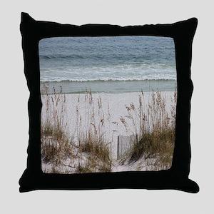 Sandy Beach Throw Pillow