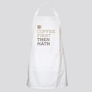 Coffee Then Math Apron