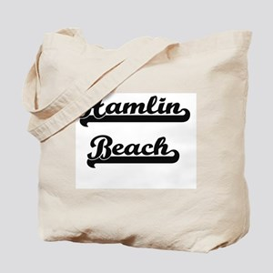 Hamlin Beach Classic Retro Design Tote Bag