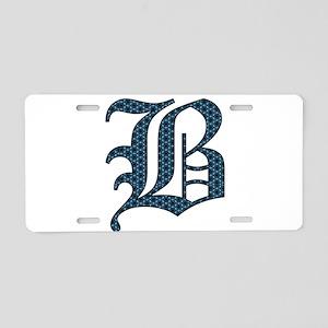 B Old English Monogram Aluminum License Plate