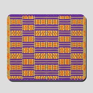 Colorful Kente Pattern Mousepad