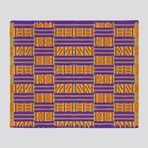 Colorful Kente Pattern Throw Blanket