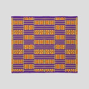 Colorful Kente Pattern Throw Blanket