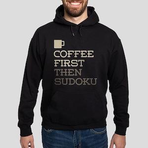 Coffee Then Sudoku Hoodie (dark)