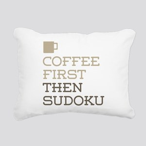 Coffee Then Sudoku Rectangular Canvas Pillow