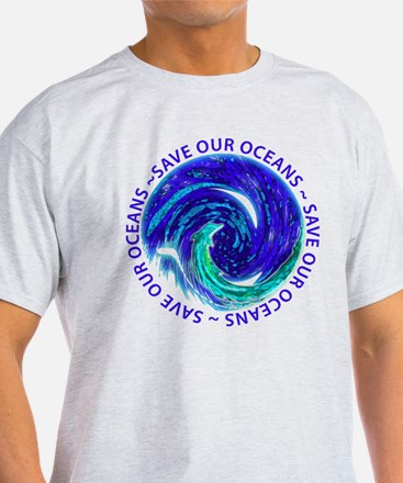 Save Our Oceans - Ring (Turquoise Dolphin) T-Shirt