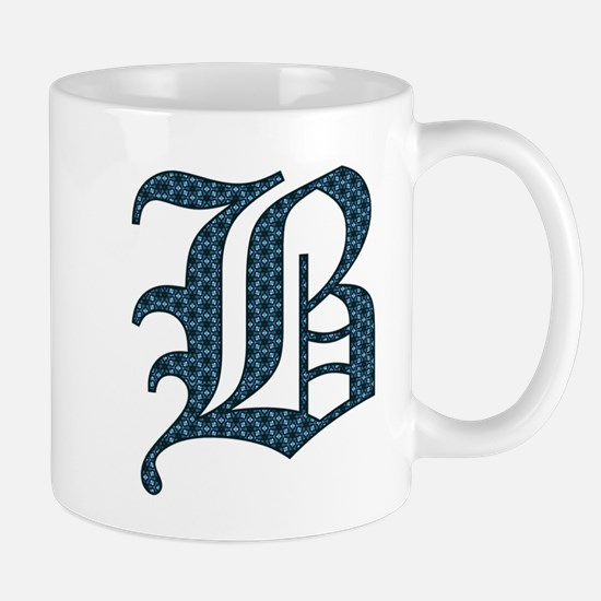 B Old English Monogram Mugs