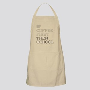 Coffee Then School Apron