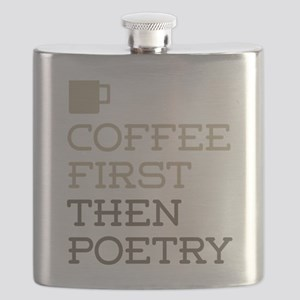 Coffee Then Poetry Flask