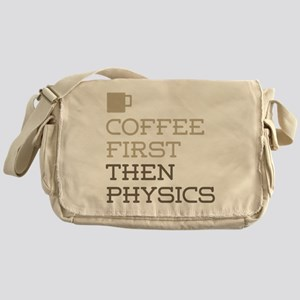 Coffee Then Physics Messenger Bag