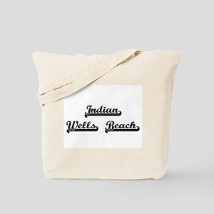 Indian Wells Beach Classic Retro Design Tote Bag