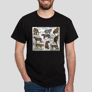 Leopards of the World Dark T-Shirt