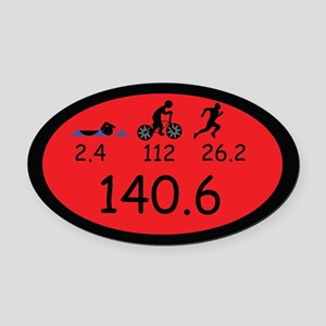 Ironman Oval Car Magnet