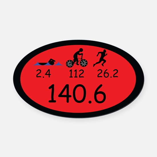 Ironman Oval Car Magnet