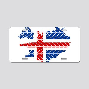 Chevron Iceland Aluminum License Plate