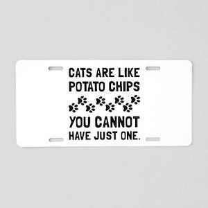 Cats Like Potato Chips Aluminum License Plate