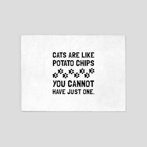 Cats Like Potato Chips 5'x7'Area Rug