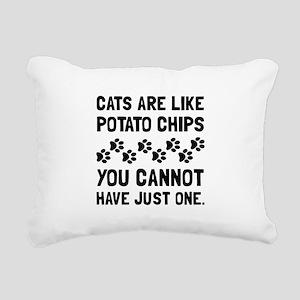 Cats Like Potato Chips Rectangular Canvas Pillow